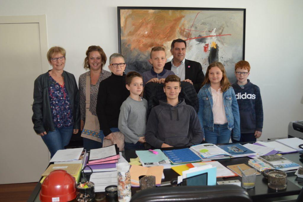 Les enfants du Conseil Municipal en visite au Conseil départemental